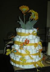 Full Length of Diaper Cake