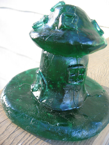 Recycled Glass Mushroom Cottage