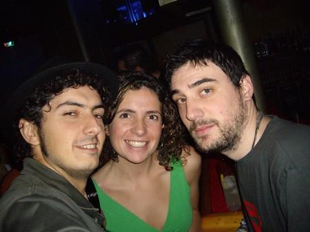 Con Pablo y Cris en La Bola