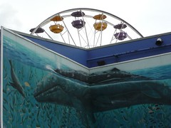 Whale mural with Ferris wheel