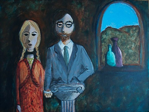 Couple with Floating Head and Pedestal