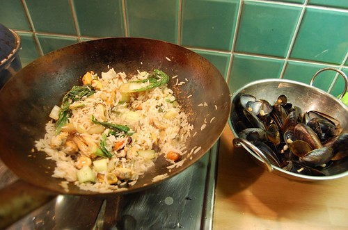 Mussels, Pak Choi and Rice