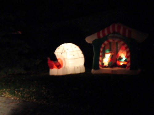 Close Up of Santa In Igloo