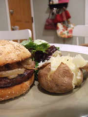 Orange Glazed Hamburger w/ Caramelized Onions