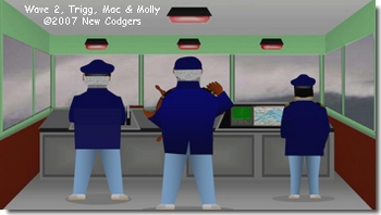 Wave 2, Trigg, Mac & Molly ©2007 New Codgers