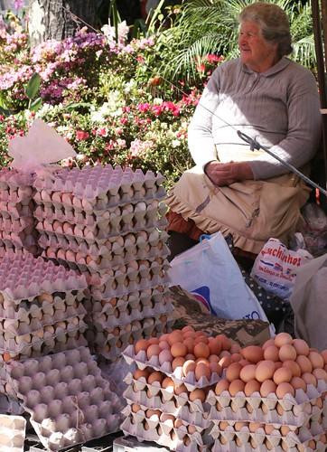 Egg lady at Barcelos