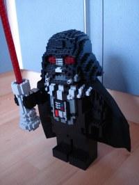 Scaled-up LEGO Bricks: Darth Vader Statue