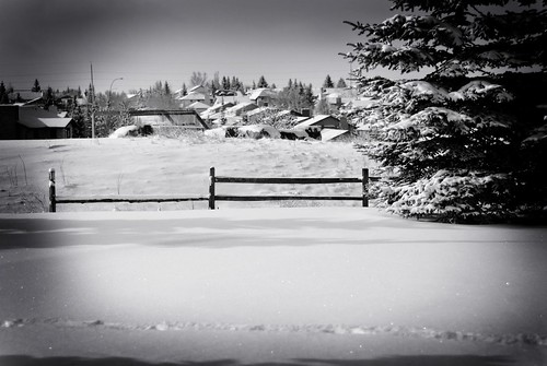 Snowy Ground at church