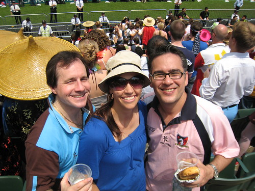 Billy, Benny and Jean at the Sevens.