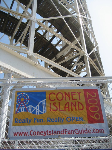 Yes! The Cyclone Roller Coaster and many other longtime Coney attractions are Really fun, Really open