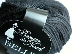 Belle black silk