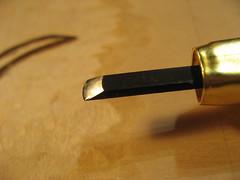 bullnose chisel - woodblock printmaking tool