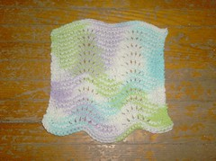 Modified Feather and Fan Dishcloth