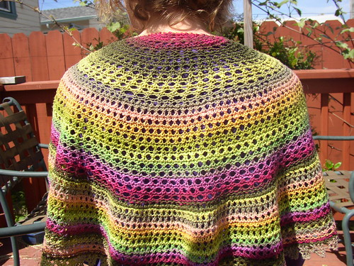 lime shawl on