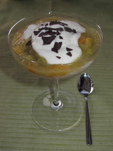 Rhababerkompott mit Vanillejoghurt