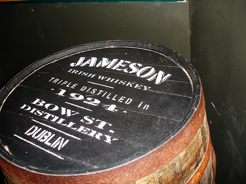 Jameson's Whiskey Barrel