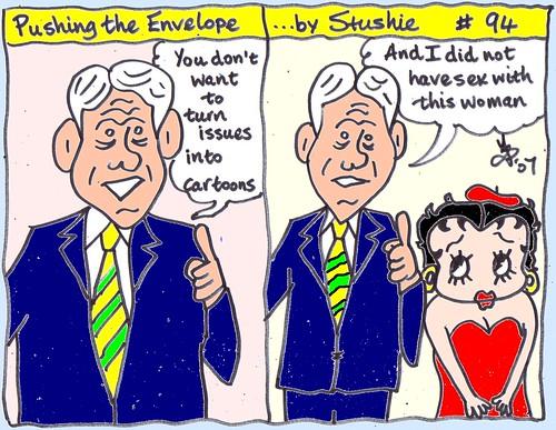 Bill Clinton & Betty Boop