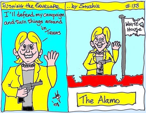 Hillary at the Alamo