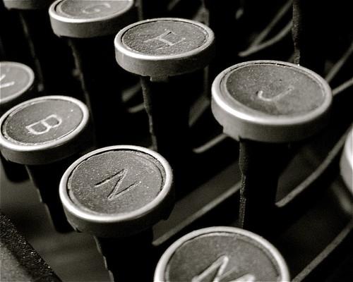 Typewriter close-up by Meredith Harris.