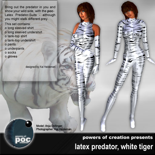 White Tiger in latex