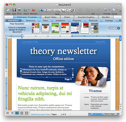 Office 2008 for Mac: Publishing Templates