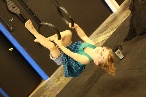 Skyler on the gymnast rings