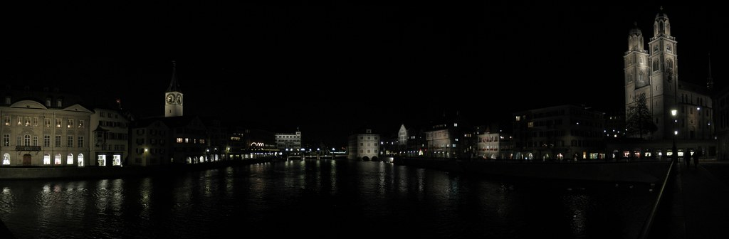 Zurich Panorama at night