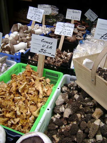 Mushroom stall at Borough Market