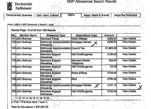 John Swinney on mortgage payments
