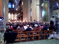 Krista speaks at the National Cathedral in Washington D.C.