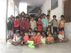 kids in a village school