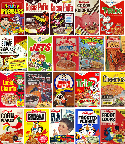 Cereal Boxes potpourri