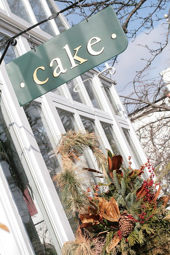Cake's sign out front
