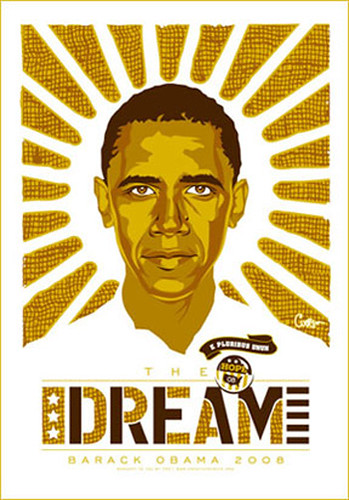 Obama mystery posters (Ray Noland, Chicago, summer 2007)