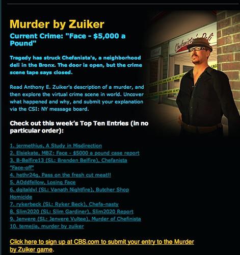 NY Murder by Zuiker