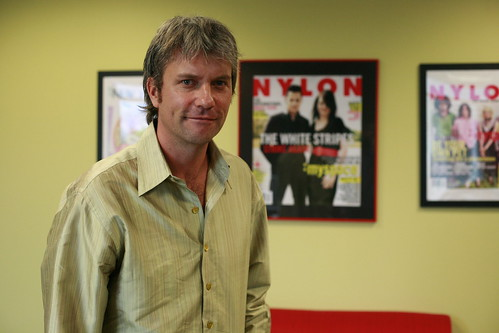 Chris DeWolfe, MySpace CEO, in his office