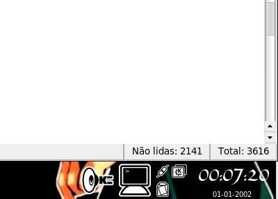 Relógio do KDE
