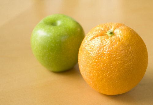 Apples & Oranges - They Don't Compare