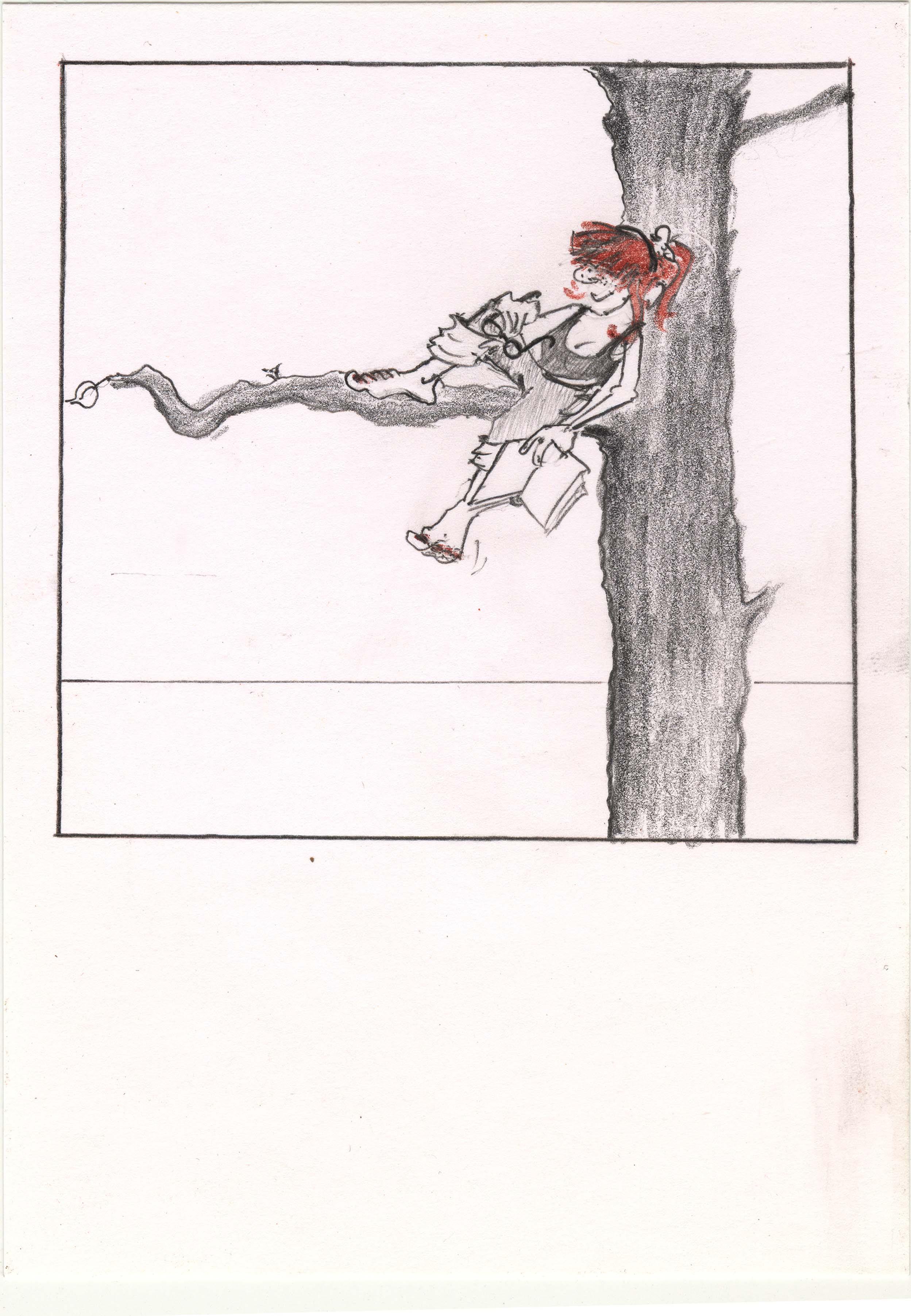 Christina Dichterliebchen träumt. Polaroid