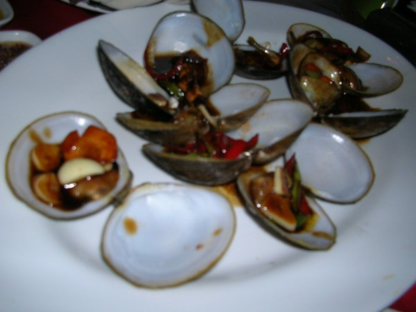 Clams with oyster sauce