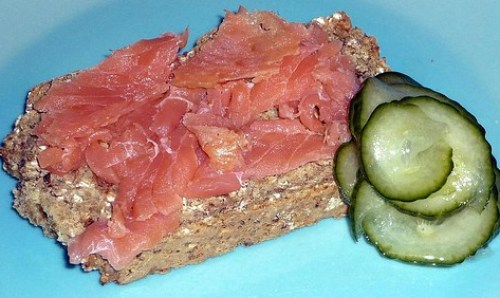 Smoked Salmon, Cucumber Pickle & Brown Soda Bread
