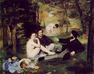'Dejeuner sur l'herbe'  by Manet