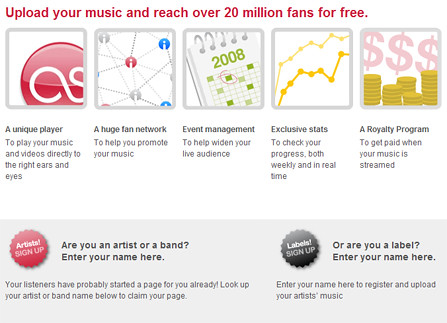 Last.fm Free Music Service screenshot