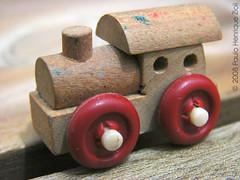 Trem de madeira - HDR