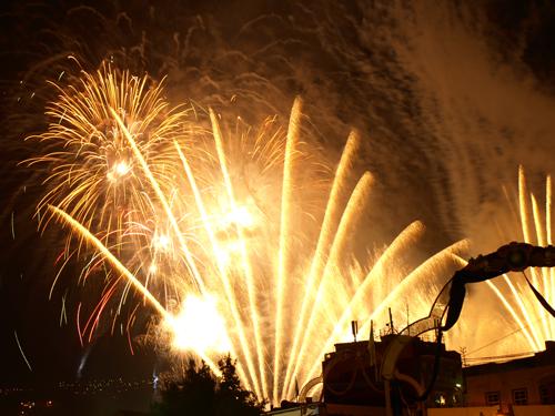 Europe's biggest firework display in Los Realejos on 3rd May 2008