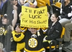 I'll fight for Lucic's shirt