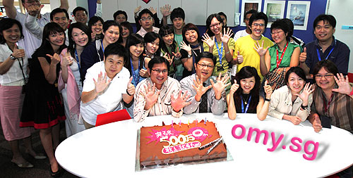 omy.sg celebration for 5 million page views