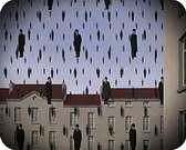 René Magritte. Golconde 1953.