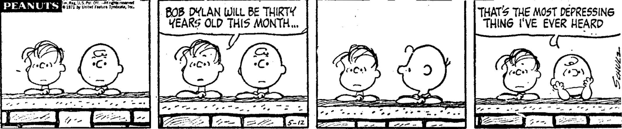 Charles M. Schulz, Peanuts, May 1971