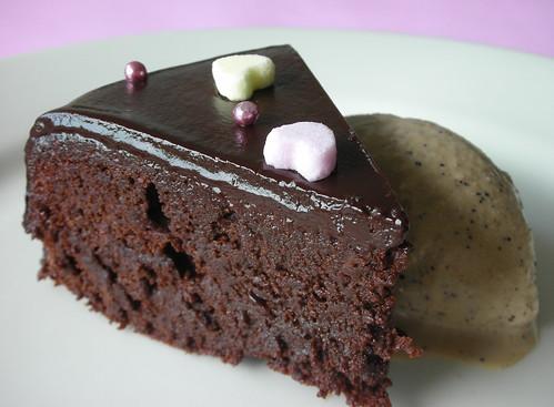 almost-fudge gâteau
